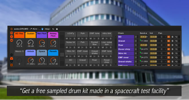 estecDRUMS Free Sampled Drum Kit by Peter Kirn • ProducerSpot