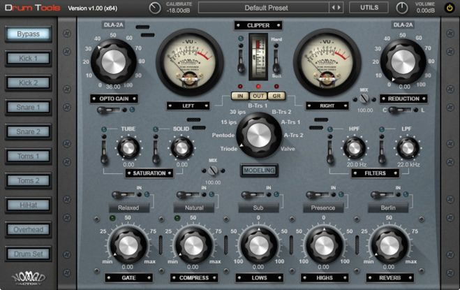 Nomad Factory Drum Tools GUI