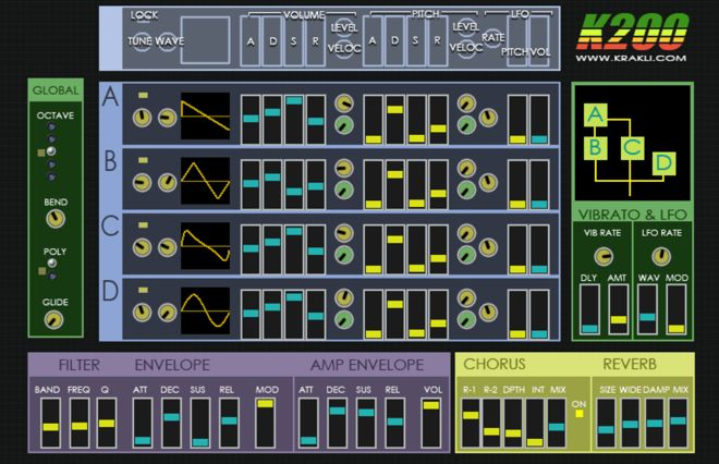K200 Free VST Synth Plugin