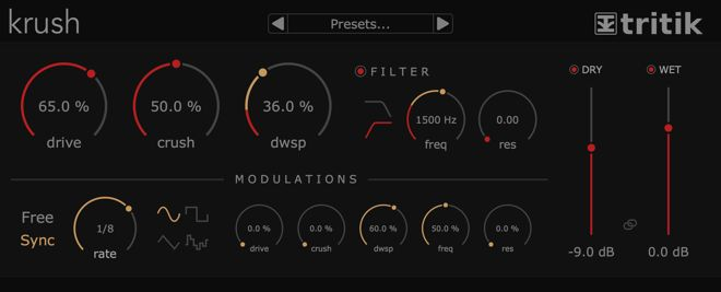 Krush Free Bitcrusher Effect Plugin