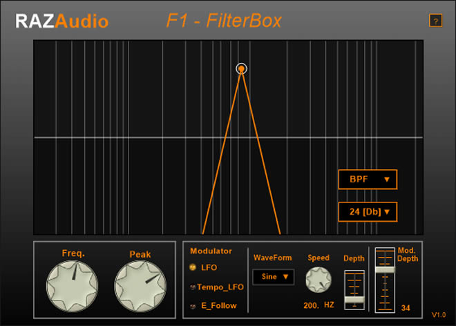 F1 FilterBox Free VST Effect Plugin