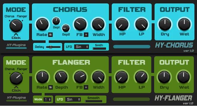 HY-ChoFla Free Chorus/Flanger VST Plugin