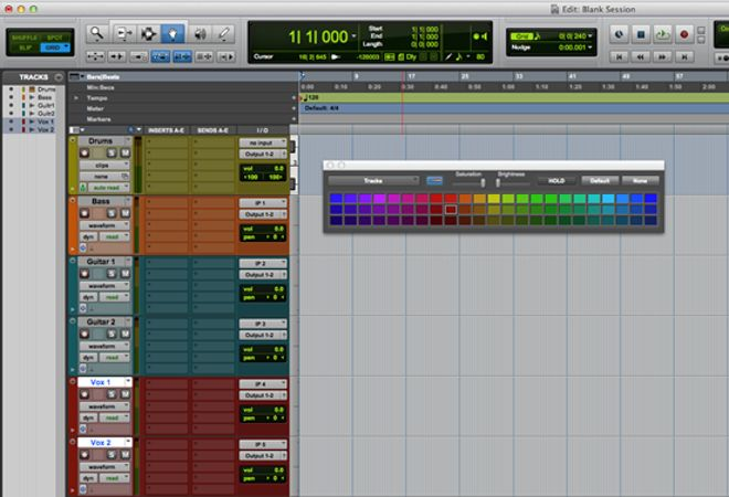 Setting Up Tracks In A Pro Tools Session
