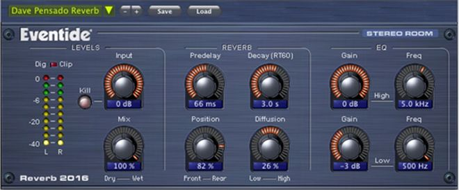 Stereo Room Reverb Plugin