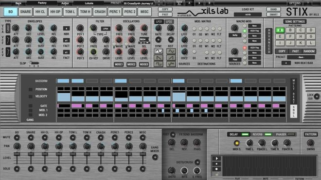 stix virtual analog multisynthesis drum machine by xils lab producerspot. Black Bedroom Furniture Sets. Home Design Ideas