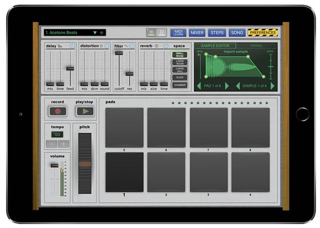 Vatanator iPad Drum Machine App