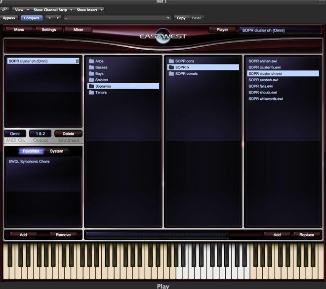 East West Symphonic Choirs Virtual Instrument