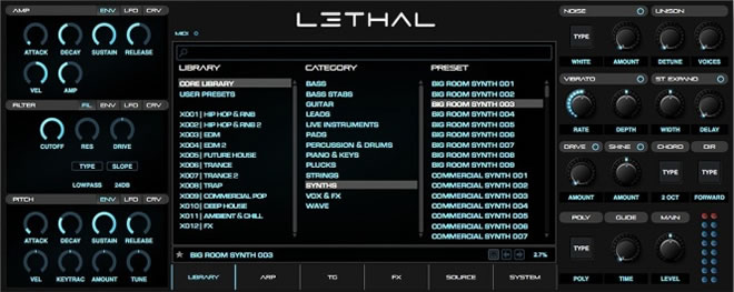 Lethal Synthesizer Plugin