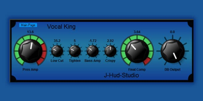 دانلود پلاگین وکالVocal King FREE VST Plugin by J-Hud-Studio