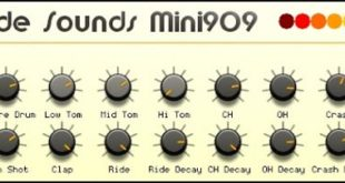 Mini TR-909 FREE Drum Machine Plugin by Monade Sounds