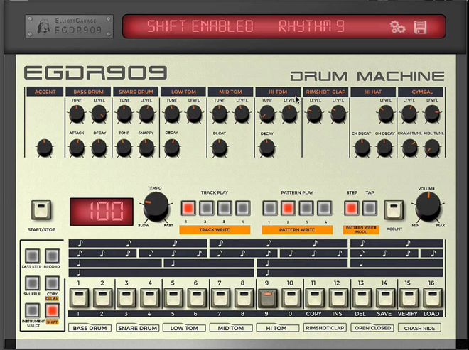 EGDR909 iPad Drum Machine