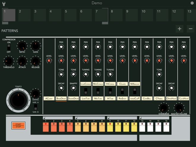 BOOM 808 Drum Machine iOS App