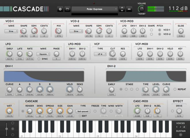 Review: Cascade Software Synth by 112dB • ProducerSpot