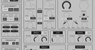 HY-Mono Free Synth Plugin Released by HY-Plugins