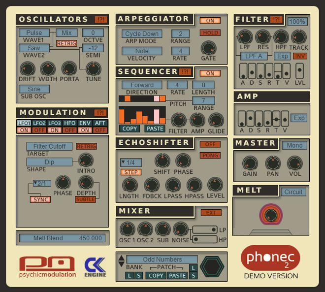 Phonec 2 Synthesizer Plugin