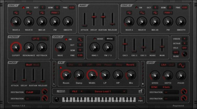 RED31 Synthesizer VSTi