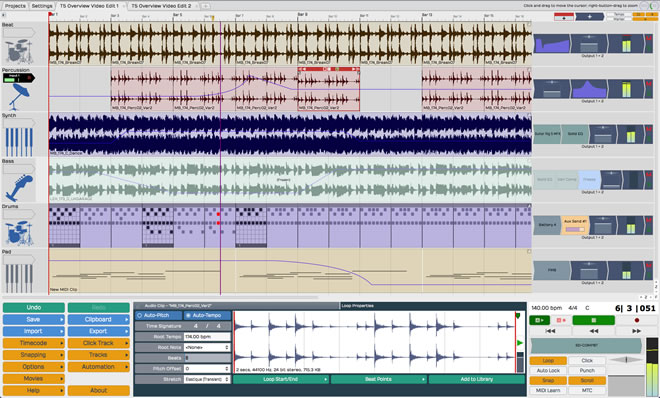 Tracktion Free Music Software