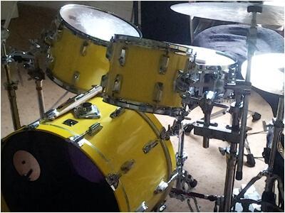 Yellow Tama Drum Kit