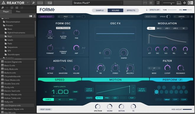 Form Synth GUI