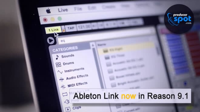 Reason 9.1 Adds Support for Ableton Link