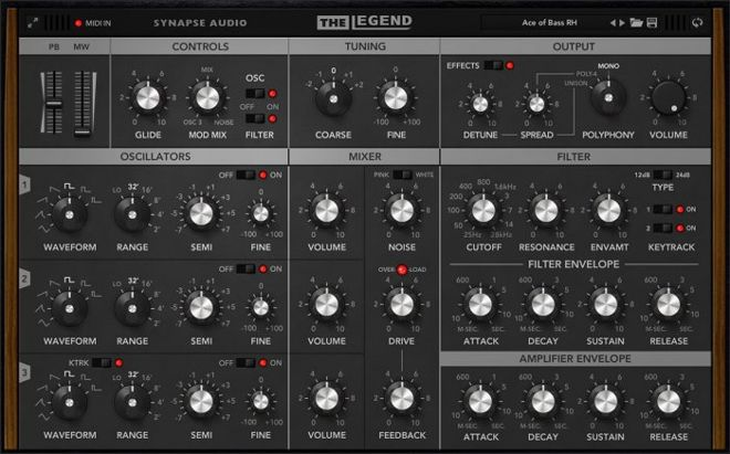 The Legend Software Synth by Synapse Audio