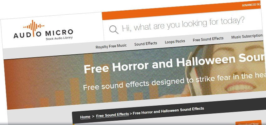 Audio Micro Free Horror and Halloween Sounds