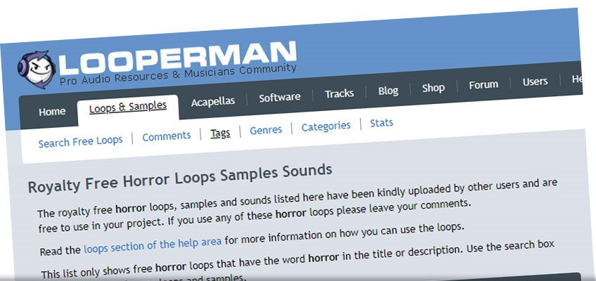 Looperman Free Horror Sound Effects