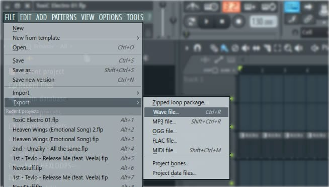 FL Studio Export Wav Files
