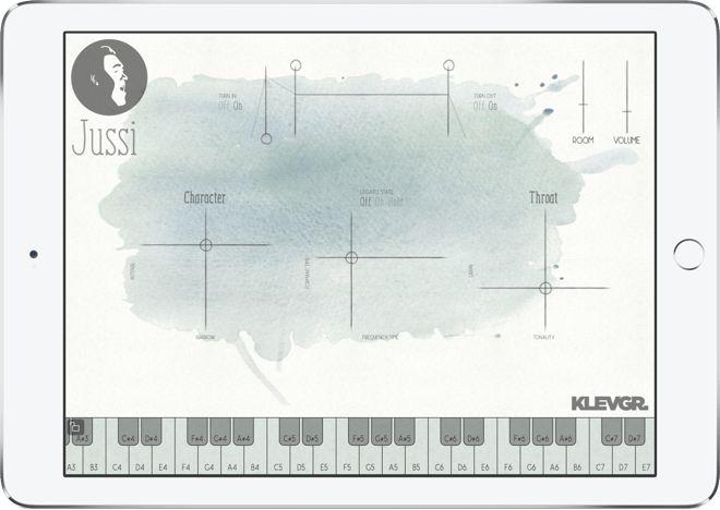 Jussi Vocal Synthesizer App (iOS, Mac & Windows) by Klevgränd