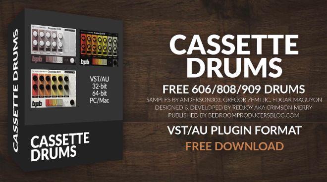 cassette drums free vst au drum machines by bpb producerspot. Black Bedroom Furniture Sets. Home Design Ideas