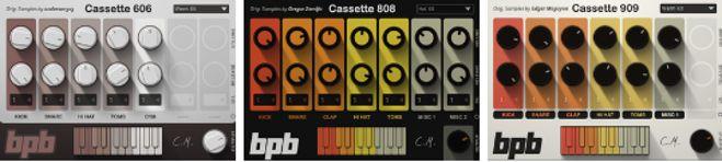 Cassette Free 808, 909, 606 Drum Samples