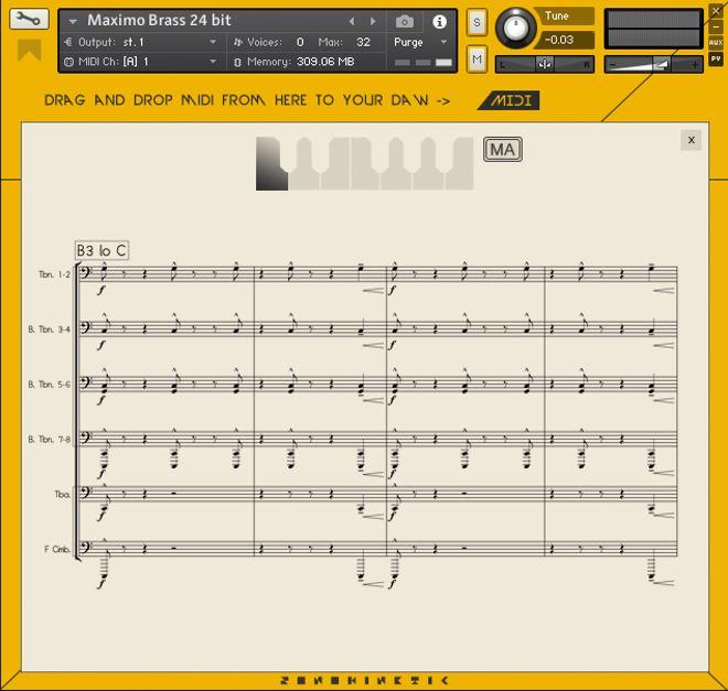 Maximo Brass Kontakt Virtual Instrument