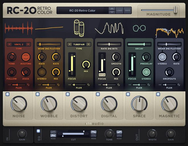 XLN Audio RC-20 Retro Color Effect Plugin