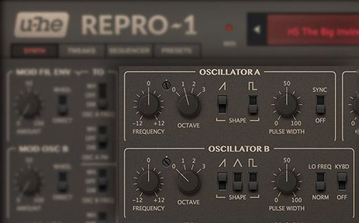 Repro-1 Synth Plugin Oscillators