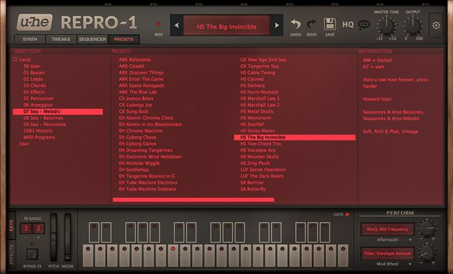 u-he Repro-1 Synth Presets