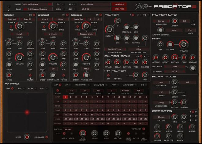 Predator 2 Software Synthesizer
