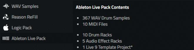 Ableton Live Pack Drums