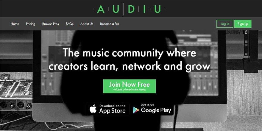 Audiu - Music Collaboration Website