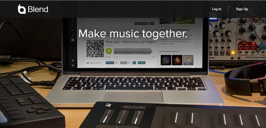 Blend - Music Collaboration Website