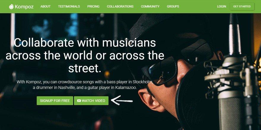 Kompoz - Music Collaboration Website