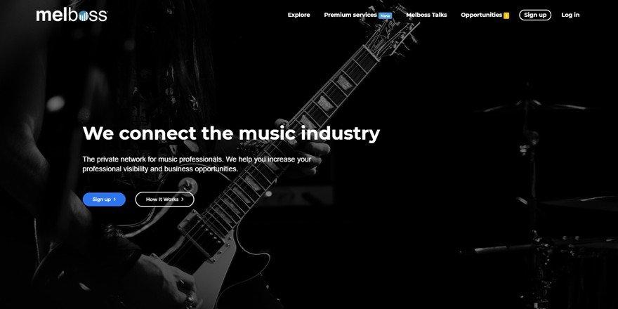 Melboss - Music Collaboration Website