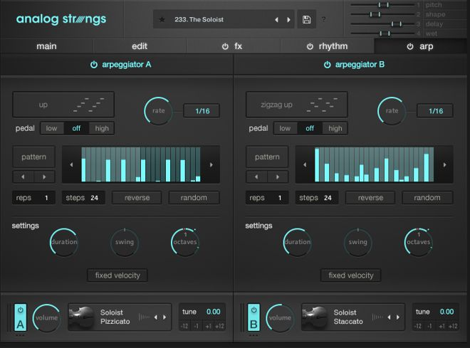Analog Strings Arpeggiator