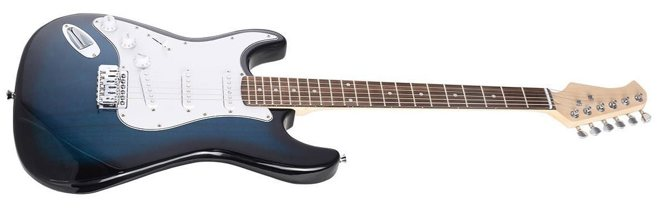 Full-Size Blue Electric Guitar