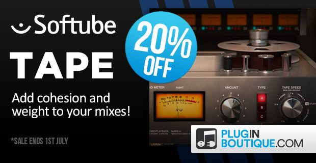 TAPE Saturation VST Plugin Released by Softube • ProducerSpot