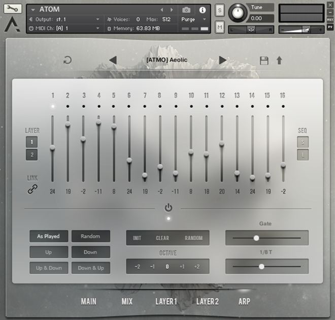 Atom Virtual Arpeggiator