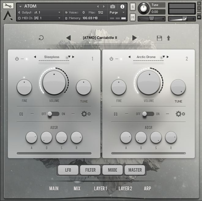 Atom's Kontakt Instrument Mix Tab