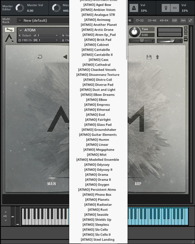 ATOM Kontakt Instrument Sounds