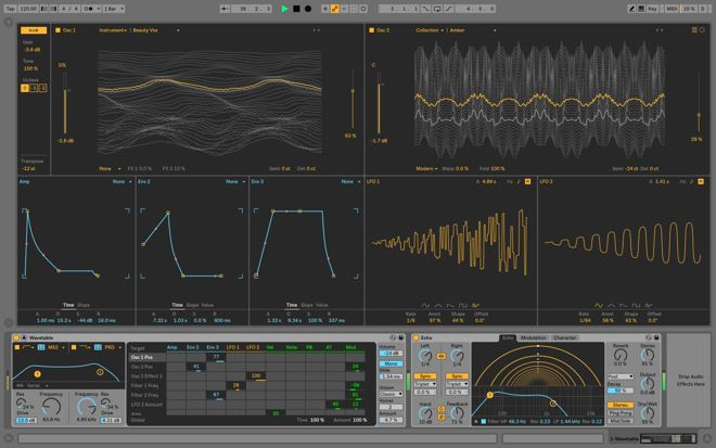 Wavetable's interface