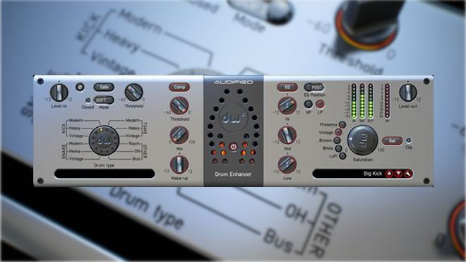 Audified DW Drum Enhancer Plug-in