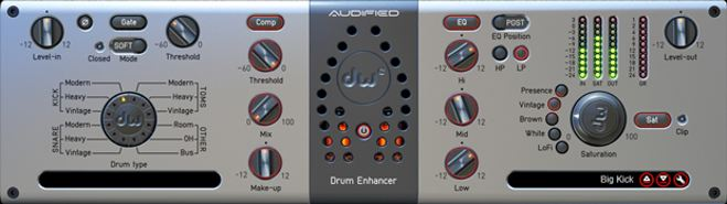 Audified DW Drum Enhancer Plug-in
